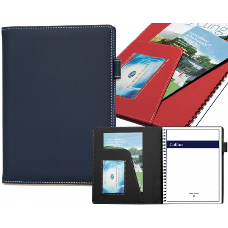 A5 Padfolio Folio Case Organiser Conference Folder Notebook Business Card Holder