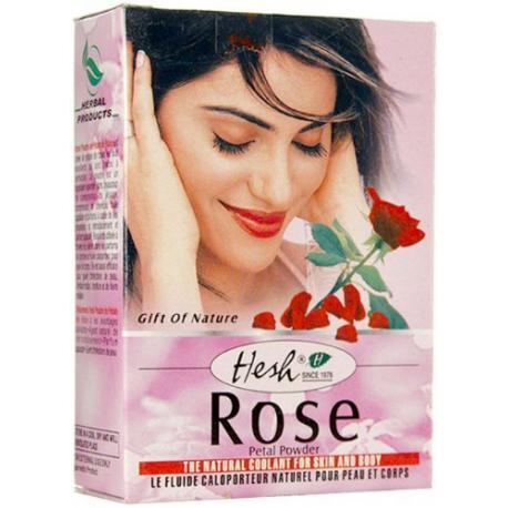 Natural Herbal Rose Petal Powder for Face Hair Skin Mud Pack 50g