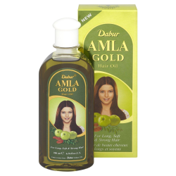 Dabur Amla Gold Hair Oil for Long Soft Smooth Strong Hair Promotes Hair Growth
