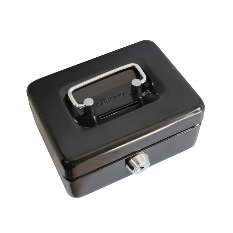 small key lockable 4 petty cash money safe box tin with coin slot