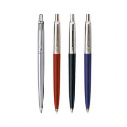 Parker Jotter Ballpoint Ball Pen Stainless Steel Red + Blue + Black + Silver Packs