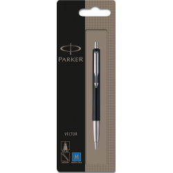 Parker Vector Standard Ballpoint Ball Pen Stainless Steel Blister Pack