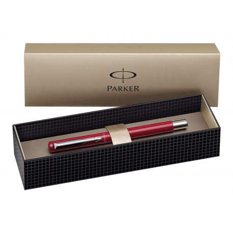 Parker Vector Stainless Steel Fountain Ink Pen Red (Blister Pack)