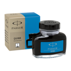 Parker Quink Ink Bottle 57ml Washable Blue S0037480