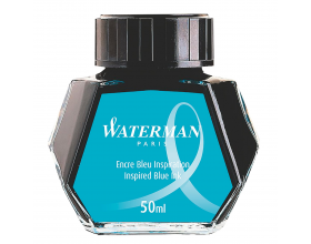 Waterman Fountain Pen Ink Bottle / Pot South Sea Inspired Blue S0110810