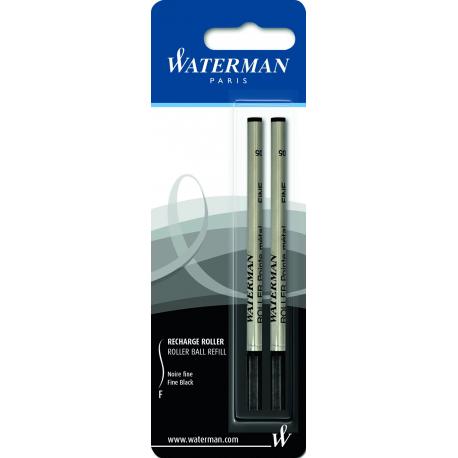 Waterman Rollerball Pen Refill Fine Tip Black Ink - Twin Pack