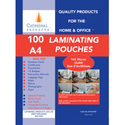 Cathedral Laminating Pouches Plastic Sleeves Sheets, Film