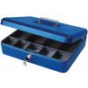 """12"""" Large Lockable Secure Money Box, Cash Tin - Blue"""