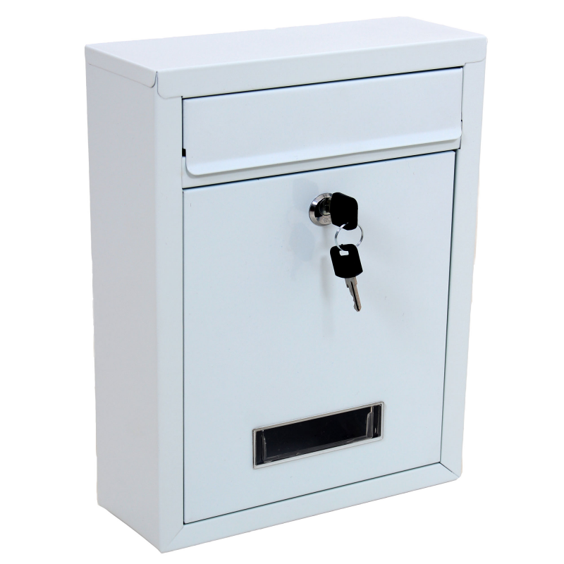 Very White Wall Mounted Post Letter Mail Box HA34