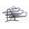 Mesh 3 Tier Document Filing Letter Paper Trays Desk Tidy Metal Organiser Risers