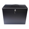 Cathedral Lockable A4 Metal Filing Box, Black