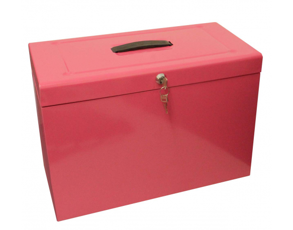 Cathedral Foolscap Suspension File Storage Box, Pink HOPK