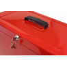 Cathedral Foolscap Portable Metal File Box, Red HORD