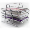 Filing Trays Letter Paper Desk Holder Storage Organiser Office Metal Mesh 3 Tier