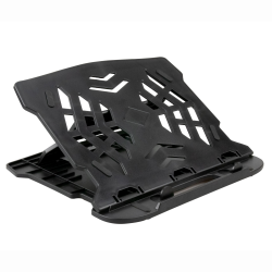 Laptop Riser Stand for Desk Laptray Holder Adjustable Height Foldable Portable - Black